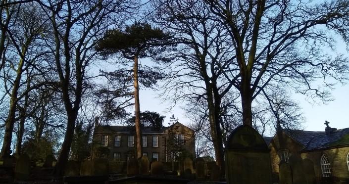 b churchyard and parsonage